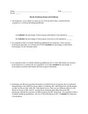 Hardy Weinberg Problem Set KEY - Hardy-Weinberg ...