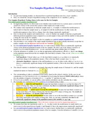 Lecture notes on Two_Samples_Hypothesis_Testing