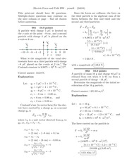 Electric Force and Field HW-solutions