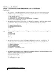 Adult Nursing III - Chapter 25 (Hoffman) EXAM 1 Patients with Upper Airways Disorders Study Guide.rt