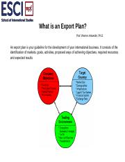 SESSION 5 DEVELOPING AN EXPORT PLAN