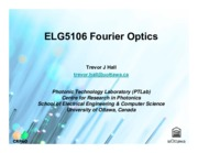 ELG5106 Fourier Optics Ch4 FT property of a lens