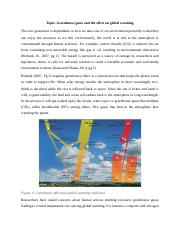 Greenhouse gases and the effect on global warming.docx