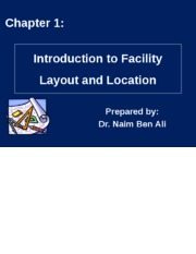 Chapter 01 - Introduction to Facility Layout