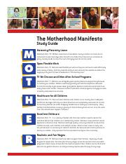 Motherhood Manifesto Study Guide