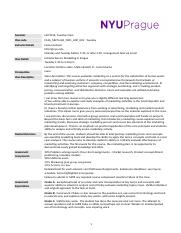 Intro to marketing Hana Huntova NYU Prague Syllabus Tuesday Fall 2016 - Stern (1)