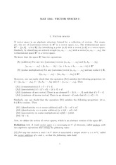 VECTOR SPACES I