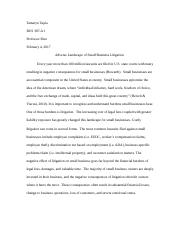 Business Law Term Paper
