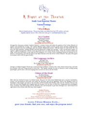 A Night at the Theatah