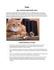 Cats - Our curious and fluffy pets.docx