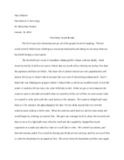 breaking social norms essay sociology introduction to  4 pages field one sara johnson