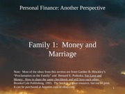 24 Family 1 - Money and Marriage 2012-03-26
