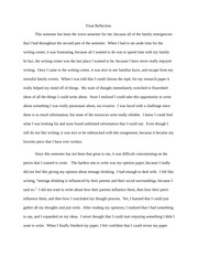 Final Reflection Essay Sample