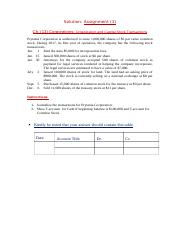 Solution Assignment (1) ch. 13
