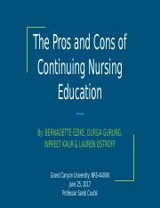 The Pros and Cons of Continuing Nursing Education (2) (1) (1) (1).pptx