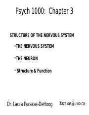 Psych 4 - Chapter 3A - Nervous