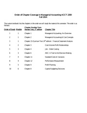 Chapter Coverage Order  ACCT 2200_Fall 2014