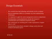 Introduction to Internal Design Elements, contd