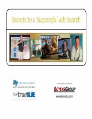 Boyens Secrets to a Successful Job Search final
