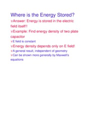 Where is the Energy Stored
