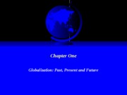 Chapter One - Globalization