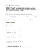 Written Assignment Chapter 18 Principles of Accounting 1
