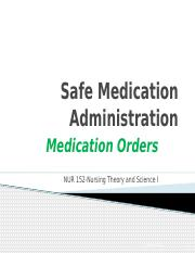 Spring 16-Medication Orders-Student