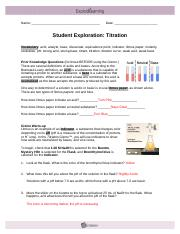 titration gizmo answer key Activity B continued from previous page 4 Calculate Select the ...