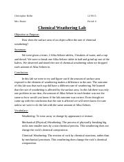 lab cover sheet (Chemical Weathering.docx