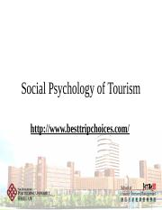 Lecture 4 - Social Psyhcology of Tourism [自动保存]