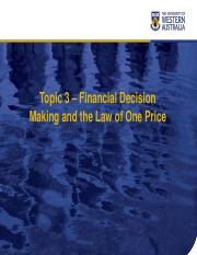 Chapter03 Financial Decision Making and the Law of One Price