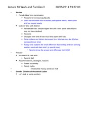 Soc 120-Notes-Work and Families Part 2