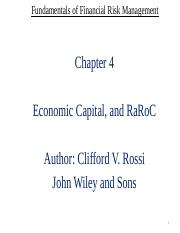 Chapter 4 - Economic Capital and RaRoC-1 (1).pptx