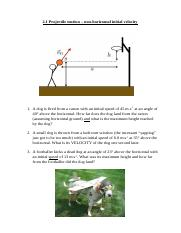 2.1 Projectile motion with NON horizontal motion.docx