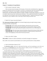 Ch 9 Foundations of Group Behavior.docx