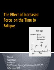 The Effect of Increased Force  on the Time.pptx