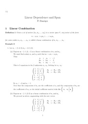 Linear Dependence and Span