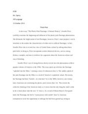 jennifer price essay Ap rhetorical writing practice / read the passage carefully then write an essay in which you analyze how price crafts the text to reveal her view of united states culture.