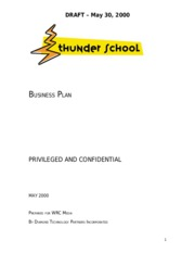 ThunderSchool Final Draft Business Plan
