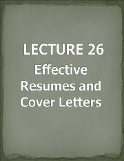 HUM 400 LECTURE 26