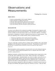Observations and Measurements Rev.doc
