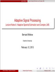 Adaptive Signal Processing Bernard Widrow Pdf