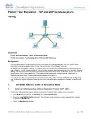 7.3.1.2 Packet Tracer Simulation - Exploration of TCP and UDP.pdf