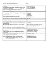 Geology 101 Worksheet Ch.3