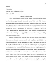 Good Women of China Essay