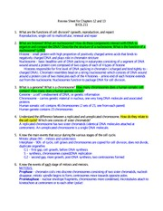 Cell Bio - Ch12-13 Studyguide