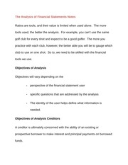 The Analysis of Financial Statements Notes