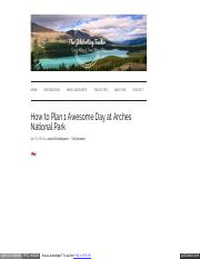 How to Plan 1 Awesome Day at Arches National Park - theglobetrottingteacher.pdf