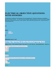 ELECTRICAL OBJECTIVE QUESTIONS WITH ANSWERS.html