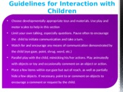 guidelines for interactions with children